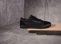 Кеды Vans old skool black white (ЧЕРНЫЕ), фото 1