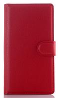 Кожаный чехол-книжка для  Lenovo P70 / P70t красный