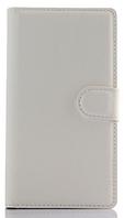 Кожаный чехол-книжка для  Lenovo P70 / P70t белый, фото 1