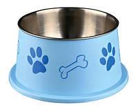 25247 Trixie Long-Ear миска металлическая, голубой