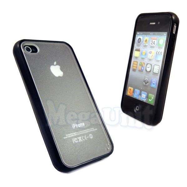Чохол-накладка силікон+TPU Apple iPhone 4
