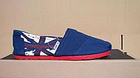 Эспадрильи женские Toms Classic National Flag Blue Реплика