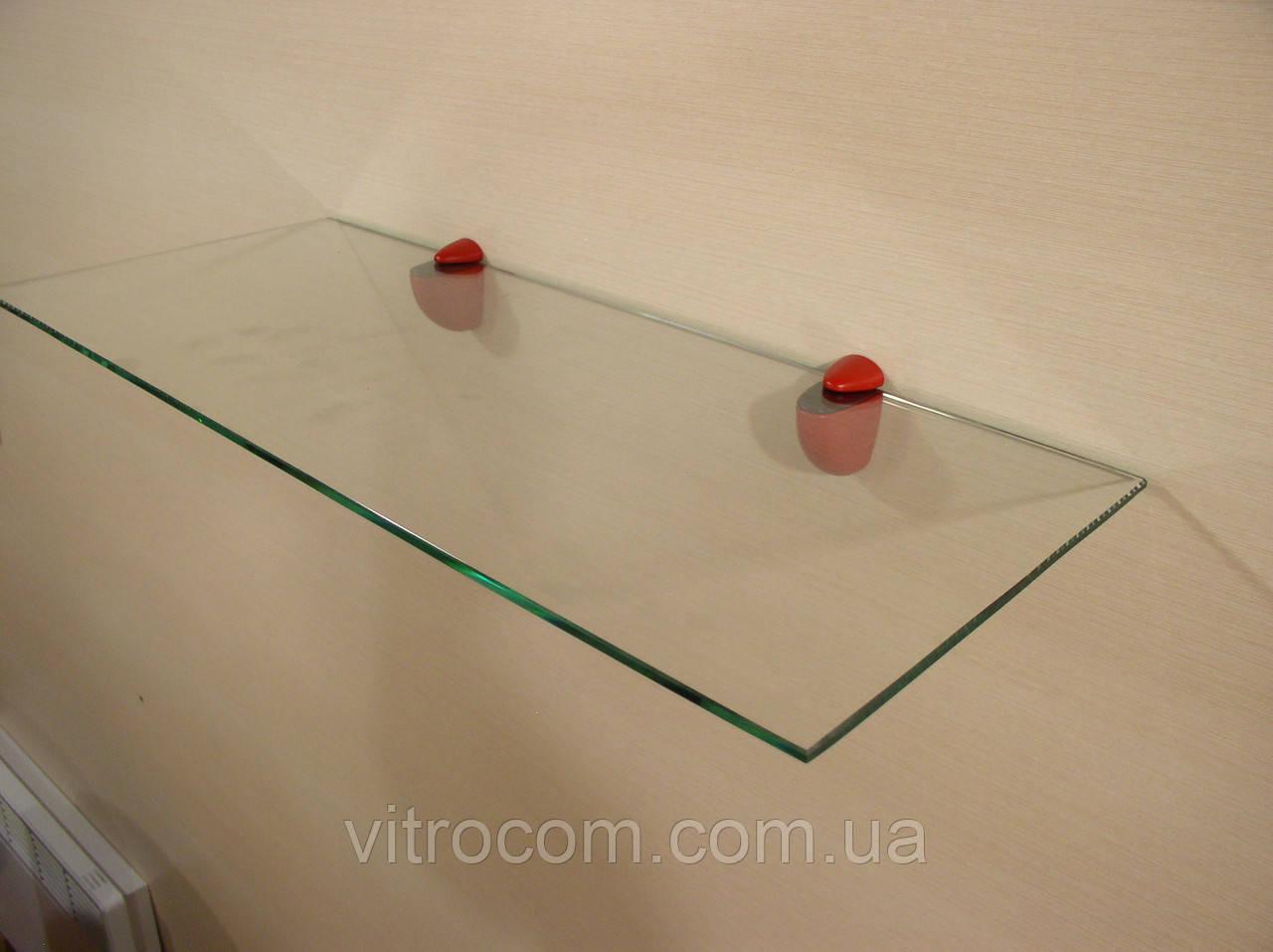 Полка стеклянная прямая 5 мм прозрачная 75 х 25 см