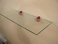Полка стеклянная прямая 5 мм прозрачная 75 х 25 см, фото 1