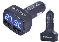 Термометр + вольтметр+зарядное в авто прикуриватель