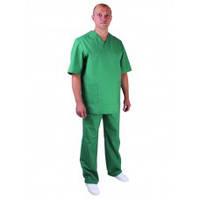 Костюм медицинский мужской зеленого цвета, ткань сису