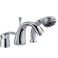 Смеситель для ванны под три отверстия Haiba MARS Chr - 022