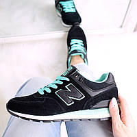 Кроссовки женские New Balance черные с мятой ЗАМША 3501 , спортивная обувь