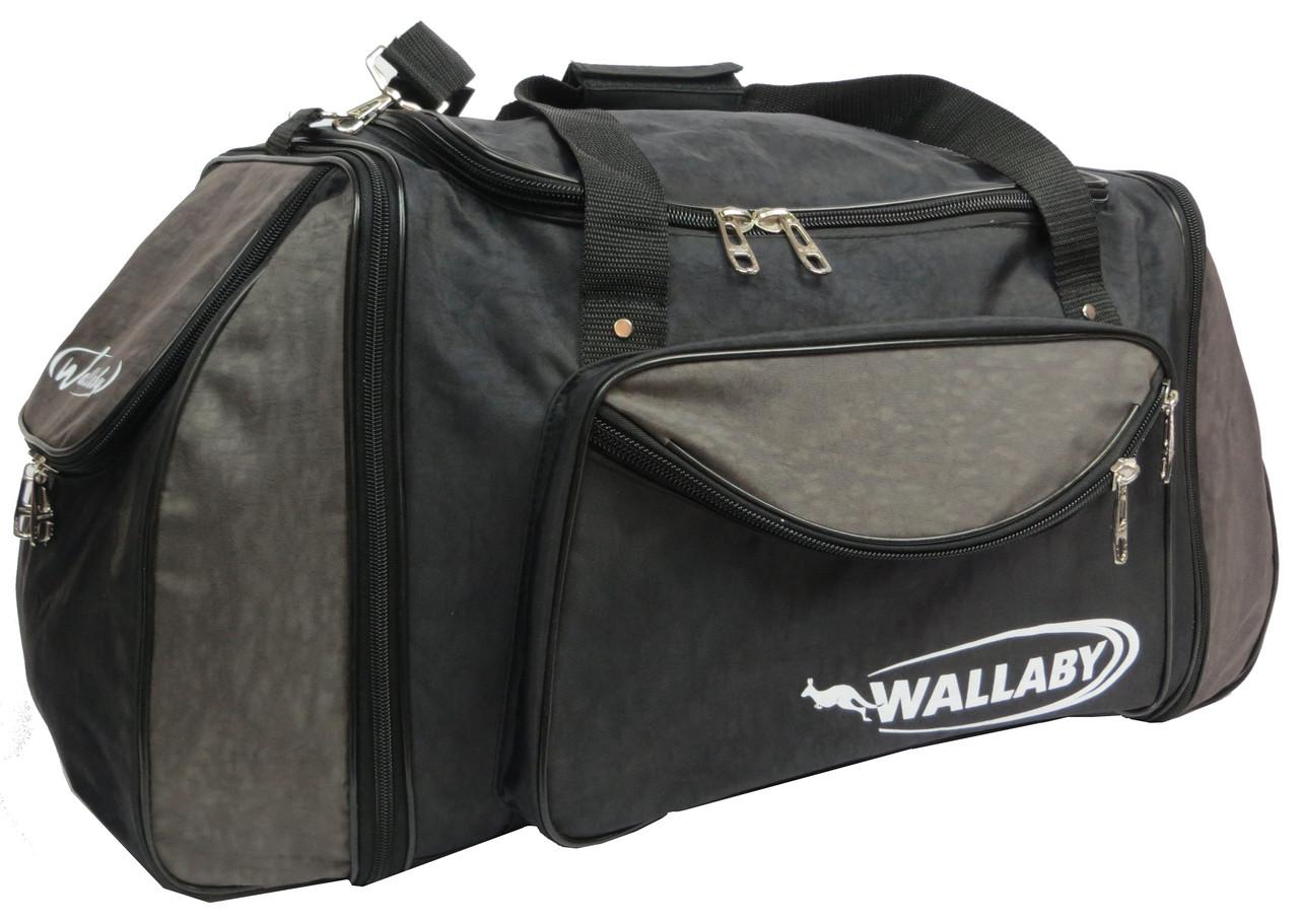 Спортивная сумка с расширением Wallaby 475-2, 61 л, черный с хаки