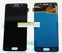 Модуль (сенсор + дисплей) Samsung A310F / A310M / A310N / A310Y Galaxy A3 (2016) Amoled original чорний