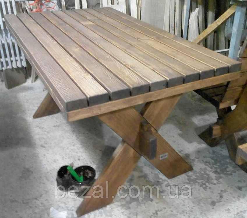 Стіл з натурального дерева з комплекту Дельта 3м