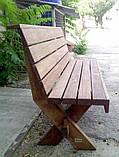 Стіл з натурального дерева з комплекту Дельта 3м, фото 8