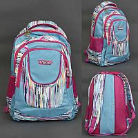 Рюкзак шкільний ортопедична спинка для дівчинки Simple blue