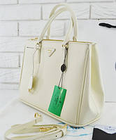 Женская сумка в стиле PRADA SAFFIANO LUX TOTE BAG WHITE (6878), фото 1