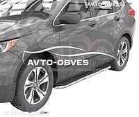 Дуги боковые Honda CR-V 2017 - ... (стиль Elegant)
