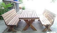 Мебель садовая из натурального дерева Дельта КОМПЛЕКТ 2м, фото 1