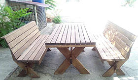 Мебель садовая из натурального дерева Дельта КОМПЛЕКТ 2м