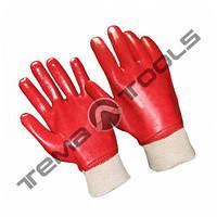 Маслобензостойкие ПВХ перчатки МБС Красные