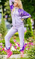 Спортивный костюм с узорным принтом фиолетовый