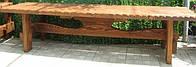 Скамья 1.8м Русская сказка садовая, деревянная мебель для дачи