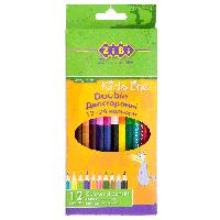 Карандаши цветные двухсторонние Zibi DOUBLE 12 цветов