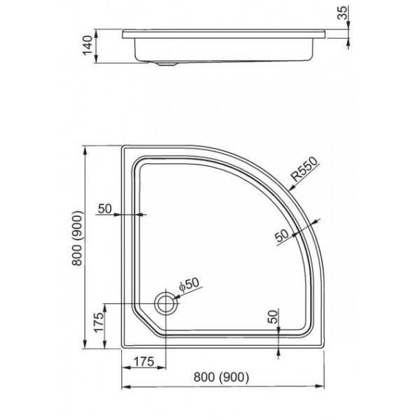aquaform Душевой поддон Aquaform Plus 550 80x80 см 200-06947