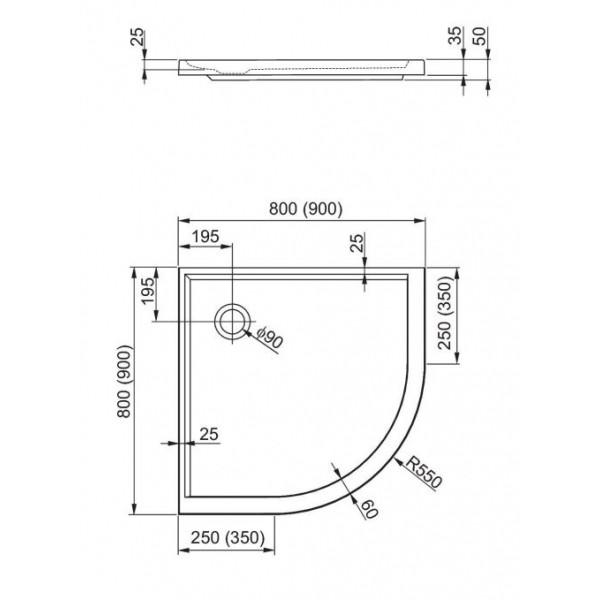 aquaform Душевой поддон Aquaform Plus 550 80x80 см 200-06920