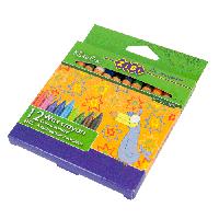 Карандаши восковые Zibi 12 цветов