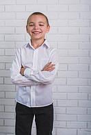 Рубашка для мальчика в школу белая