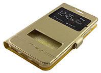 Чехол (книжка) с окошком для Meizu M3 / M3 mini / M3s золотой