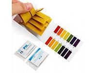 Лакмусовая бумага (pH-тест) 1-14рН  80 полосок