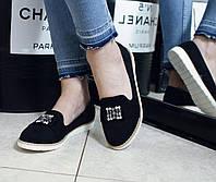 Женские туфелки с камнями р.40