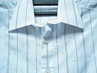 Шведка для мальчика Zoor приталенная белая с тонкой чёрной полоской(разм S,M,L,XL) , фото 1