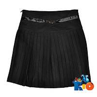 Школьная черная юбка для девочки, р.122-146