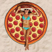 Пляжная подстилка-коврик Pizza