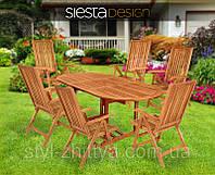Комплект садових меблів стіл + 6 крісел, фото 1