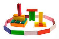 Деревянный конструктор nic nic523300 Строительные пластины Башня 60 элементов