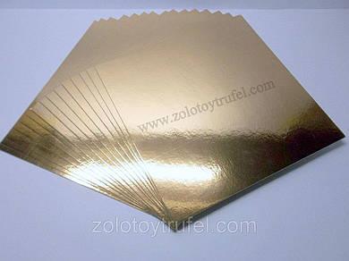 Подложки для торта золото-серебро 35 х 35 см (50 шт)
