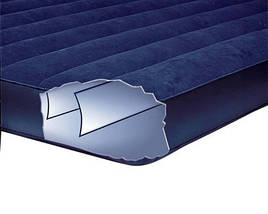 Двухместный надувной матрац с велюровым верхом Intex, темно-синий, фото 3