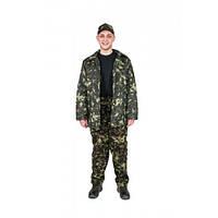 Куртка утепленная ватная камуфлированная, ткань грета
