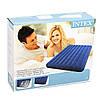Двухместный надувной матрац с велюровым верхом Intex, темно-синий, фото 4