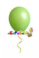 Зеленый летающий шар без рисунка. Диаметр 31 см.