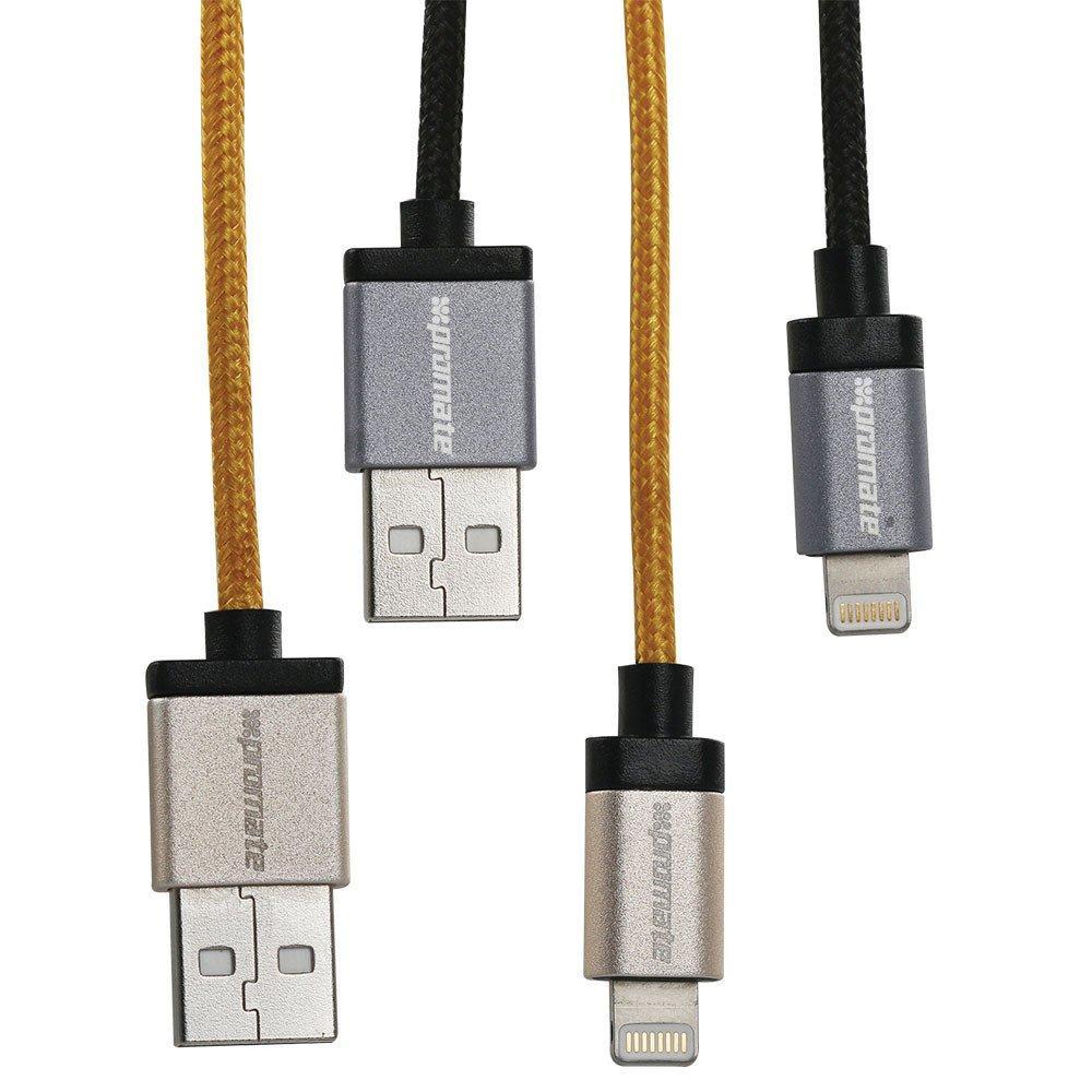Кабель Promate linkMate-LTF Lightning-USB 1.2 м  Silver