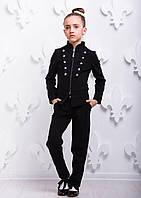 """Б/у Костюм """"Модная форма"""" черный, 116 размер (пиджак Б/У, брюки новые), фото 1"""