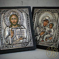 Иконы Спаситель и Тихвинская икона Богородицы. (ПАРА) 200х170