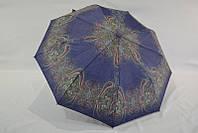 Спокойный качественный женский зонт полу-автомат анти-ветер *турецкий огурец*