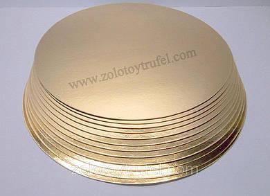 Подложки для торта золото-серебро d 18 см  (50 шт)