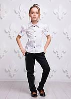 Рубашка с коротким рукавом, 122 и 128 размеры в наличии (ТМ Sofia Shelest)