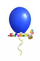 Синий летающий шар без рисунка. Диаметр 31 см.
