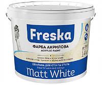 Краска интерьерная акриловая для стен и потолков Matt White 4кг FRESKA